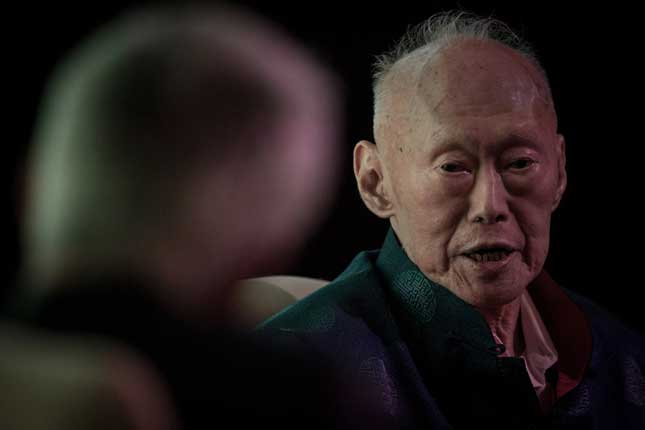 Lee Kuan Yew in 2013. (Photo by Chris McGrath/Getty Images)