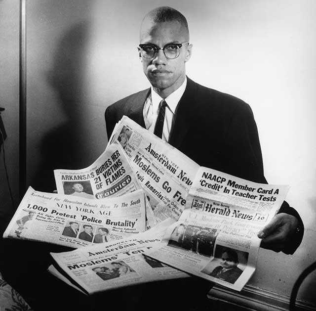 Malcolm X, circa 1963 (Photo by Three Lions/Hulton Archive/Getty Images)