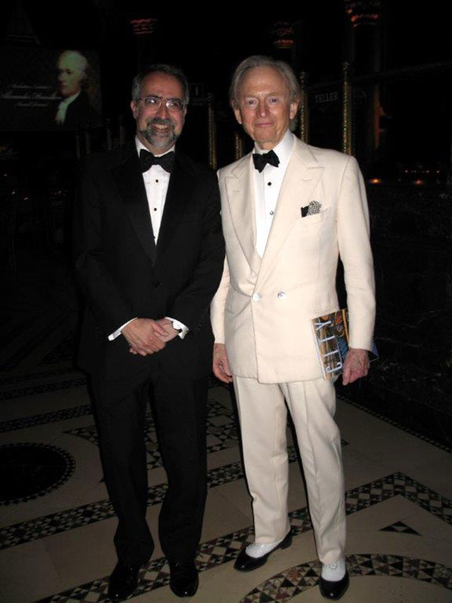 Tom Wolfe with Manhattan Institute president Larry Mone, 2006