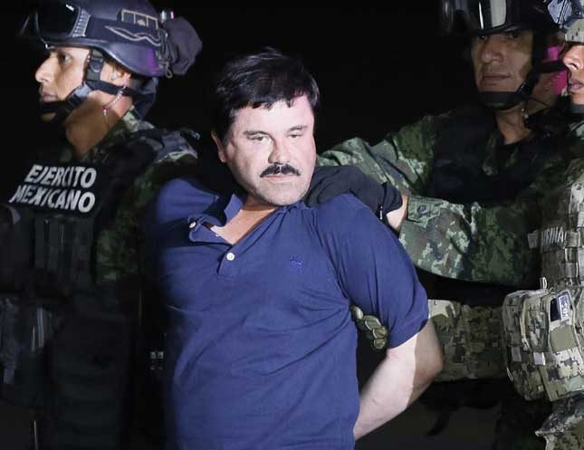 """Drug trafficking does not depend on just one person,"" said the recently recaptured El Chapo. (JOSE MENDEZ/EPA/CORBIS)"