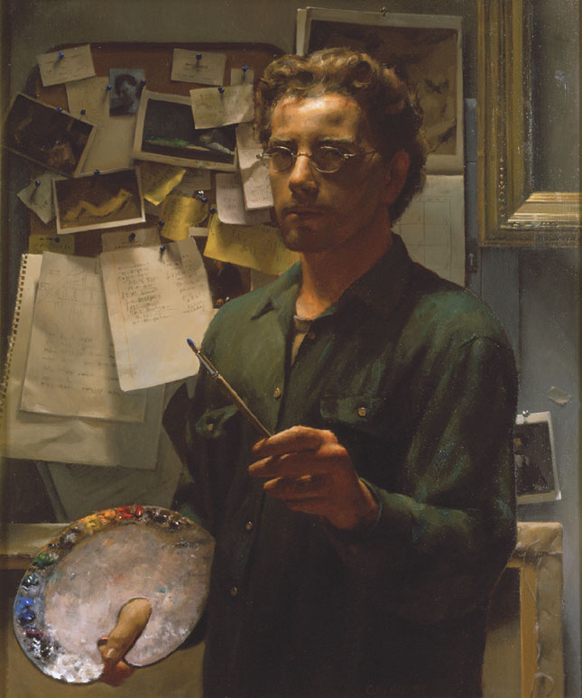 A self-portrait of the artist (JACOB COLLINS, COURTESY OF THE ARTIST)