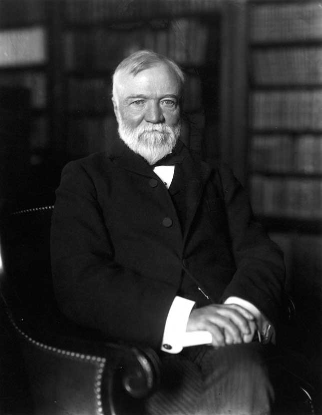 Industrialist Andrew Carnegie donated $600,000 in U.S. Steel bonds to Tuskegee Institute in 1903. (GRANGER, NYC — ALL RIGHTS RESERVED)