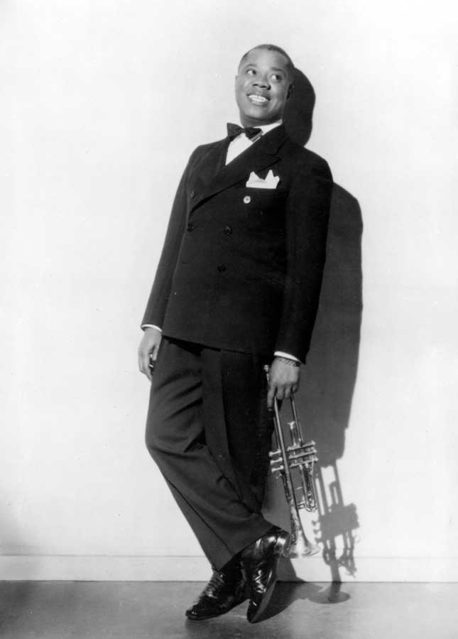 Jazz legend Louis Armstrong brought his New Orleans sound to New York in the late 1920s and made the city his home base. (Photofest)