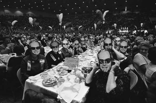 Goldwater supporters at the GOP Women's National Convention in 1964. One of the candidate's biggest blunders was not presenting himself as the likable, multifaceted person that he was. (GEORGE TAMES/THE NEW YORK TIMES/REDUX)