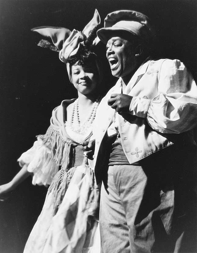 "Jeni LeGon and Bob Howard as Lily-Ann and Pooch singing ""Hi-De-Ho High"" (COURTESY OF AUTHOR (4))"