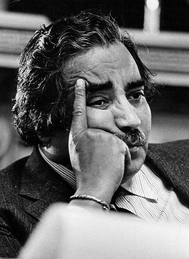 Rangel in 1983, well into his career as a fierce advocate for the war on drugs (DUANE HOWELL/THE DENVER POST/GETTY IMAGES)