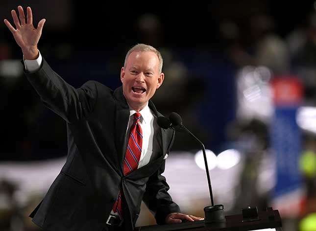 The Democratic Party often features its mayors at signature events, but Oklahoma City's Mick Cornett was the only mayor to speak at the last two Republican conventions. (Mark J. Terrill/AP Photo)