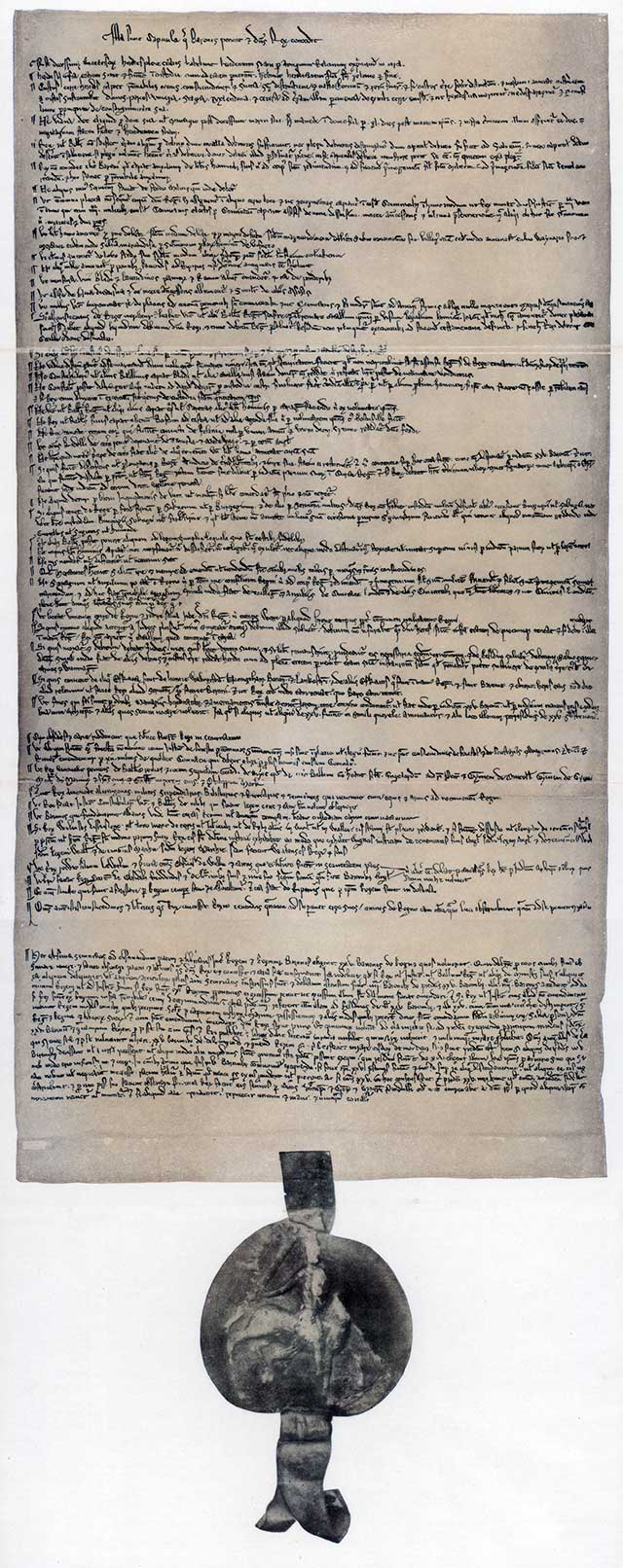 The right of due process goes back to 1215 and Magna Carta, the charter that limited the power of the English king. (HIP/ART RESOURCE, NY)
