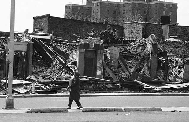 "Newark in 1974, well into its downward spiral, which Roth chronicled in ""American Pastoral"" and other books (JERRY MOSEY/AP PHOTO)"