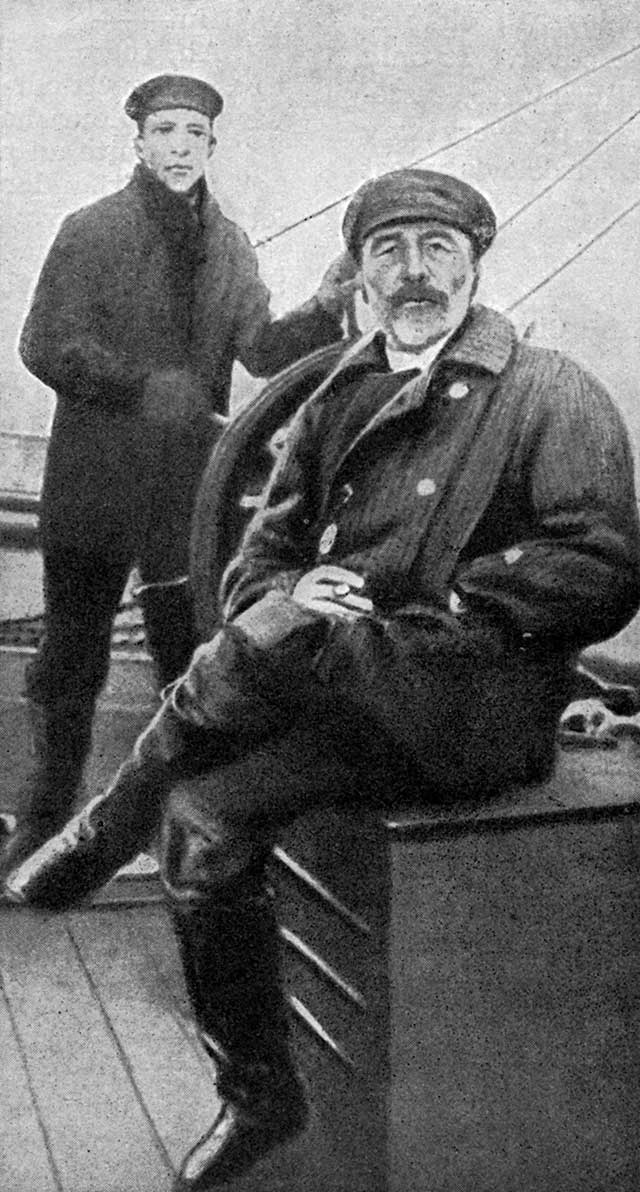 When Joseph Conrad (seated, right) wrote of commanding a steamer up the Congo River into the heart of darkness, he wrote from personal experience. (LEBRECHT MUSIC AND ARTS PHOTO LIBRARY / ALAMY STOCK PHOTO)