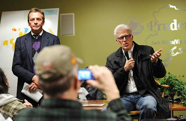 While filming a movie subsidized by state tax credits, actor Ted Danson angered Alaska residents by testifying against offshore oil drilling at a public hearing. (MICHAEL DINNEEN/AP PHOTO)
