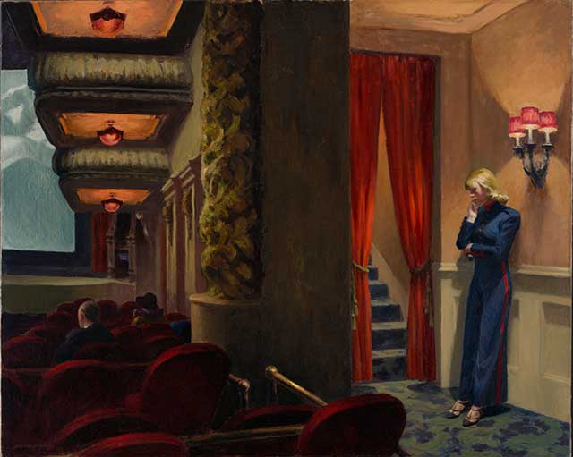 "Edward Hopper's ""New York Movie"", 1939 (DIGITAL IMAGE © THE MUSEUM OF MODERN ART/LICENSED BY SCALA / ART RESOURCE, NY)"