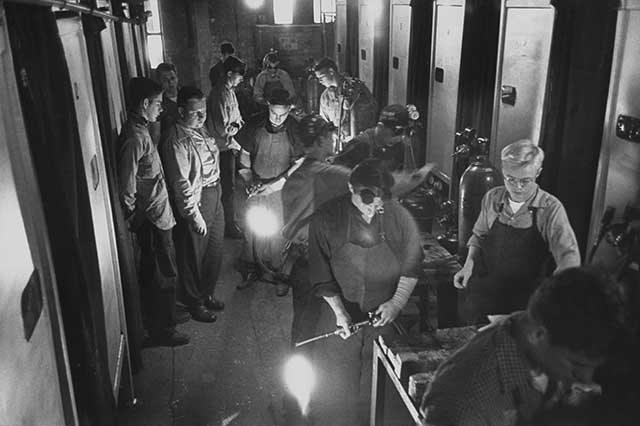 The country's new high schools provided not only academic skills but also training for the working world, from welding to dressmaking. (Yale Joel/The LIFE Picture Collection/Getty Images)