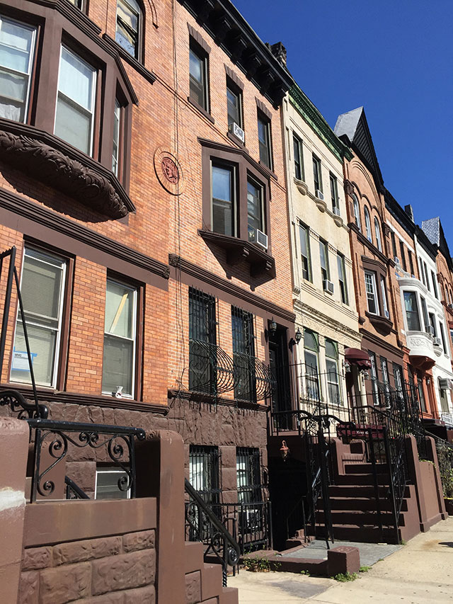 The facade of the building where Ward lived in Harlem, part of a neighborhood that has seen a major rejuvenation (PHOTO COURTESY OF THE AUTHOR)