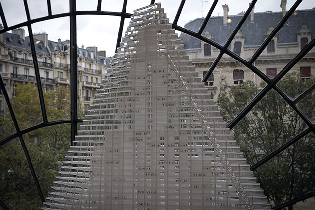 Neighborhood residents violently oppose Herzog and de Meuron's Triangle Tower, a proposed skyscraper that will be built in the 15th arrondissement. (JOEL SAGET/AFP/GETTY IMAGES)
