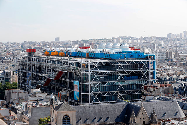 The widely reviled Pompidou Center, a magnet for vagrants and thugs (FRANCOIS GUILLOT/AFP/GETTY IMAGES)