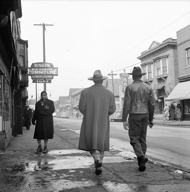 In Black Bottom and elsewhere, urban renewal and public housing helped wipe out hubs of black-owned businesses and self-help institutions. (GRANGER)