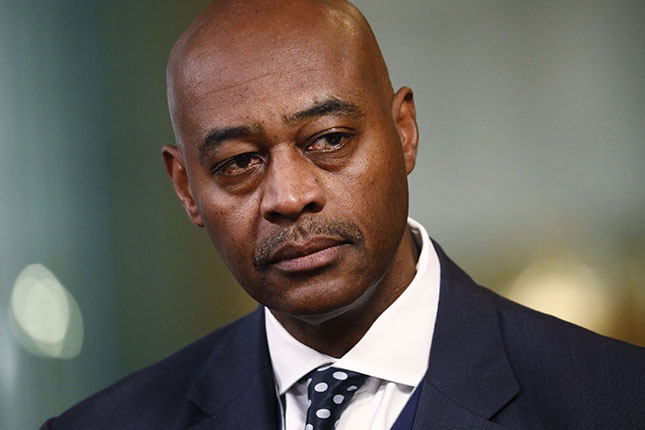 Citigroup vice chairman Ray McGuire has emerged as one of the moderate candidates to replace de Blasio as the next mayor. (PATRICK T. FALLON/BLOOMBERG/GETTY IMAGES)