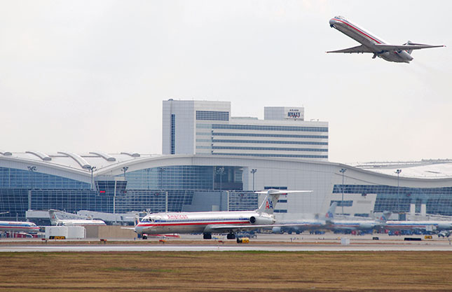 Rather than building on natural advantages, the Dallas–Fort Worth metroplex owes its tremendous growth to transportation infrastructure—such as DFW International Airport. (HUM IMAGES/ALAMY STOCK PHOTO)