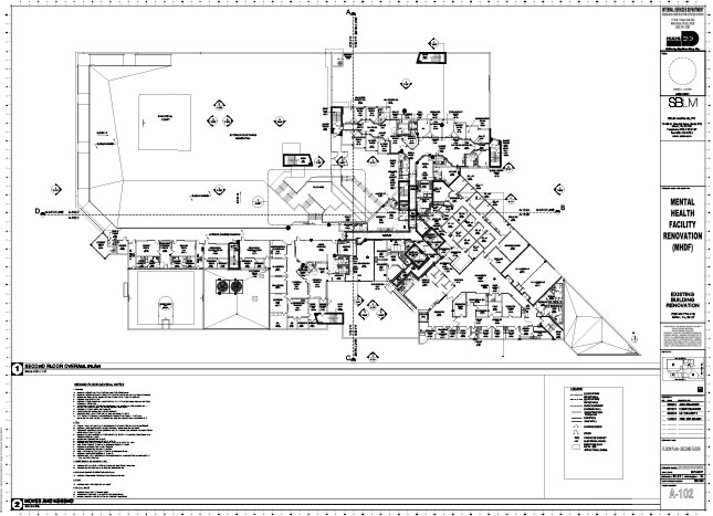 A blueprint for the $42 million Mental Health Diversion Facility, which Judge Leifman and his staff hope to open in 2020 (MIAMI-DADE CRIMINAL MENTAL HEALTH PROJECT)