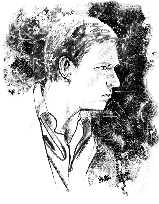 Peter Thiel (Illustration by Garry Brown)