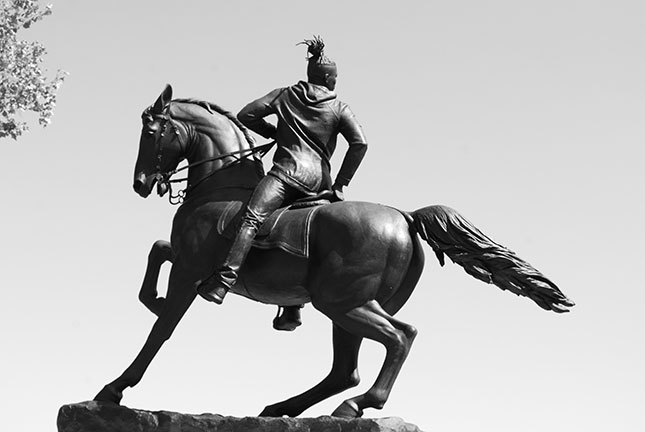 """Rumors of War,"" artist Kehinde Wiley's response to the Stuart monument (courtesy of author)"