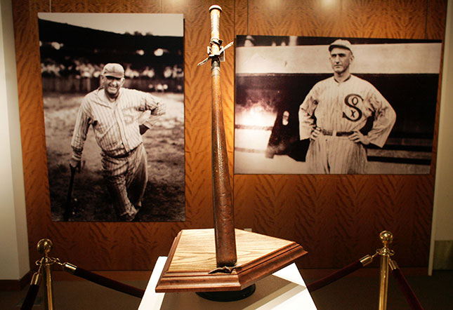 """Shoeless"" Joe Jackson's Bat (Photo by Michael Nagle/Getty Images)"