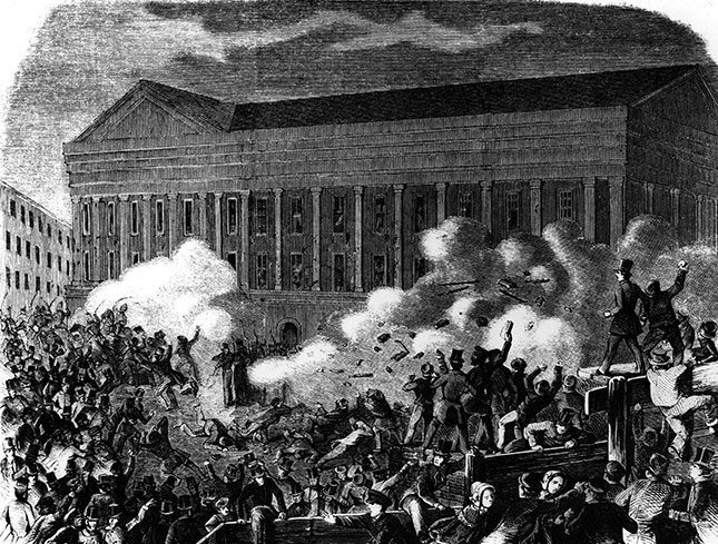 A rivalry between actors sparked the Astor Place Riot of 1849. (INTERFOTO/ALAMY STOCK PHOTO)