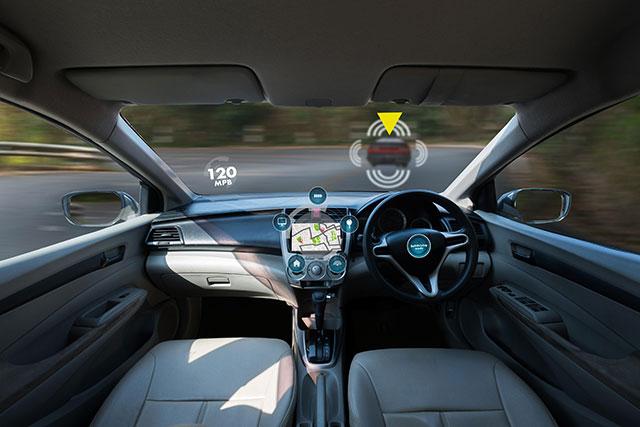 A view from inside an autonomous vehicle (NIPIPHON NA CHIANGMAI / ALAMY STOCK PHOTO)