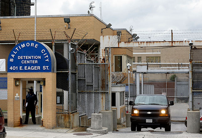 Baltimore city jail became a haven for drug-dealing, prostitution, and violence involving both inmates and guards. (PATRICK SEMANSKY/AP PHOTO)