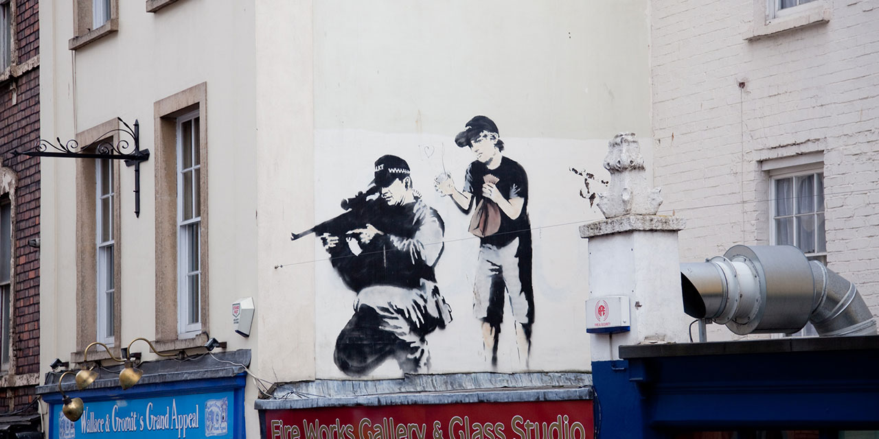 The Discriminating Philistine: Banksy's wit and talent don't