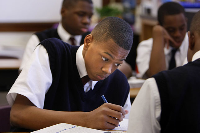Recent research shows that Catholic school attendance boosts the likelihood that a minority student will graduate from high school from 62 percent to 88 percent. (KAREN PULFER FOCHT/ZUMA PRESS, INC./NEWSCOM)