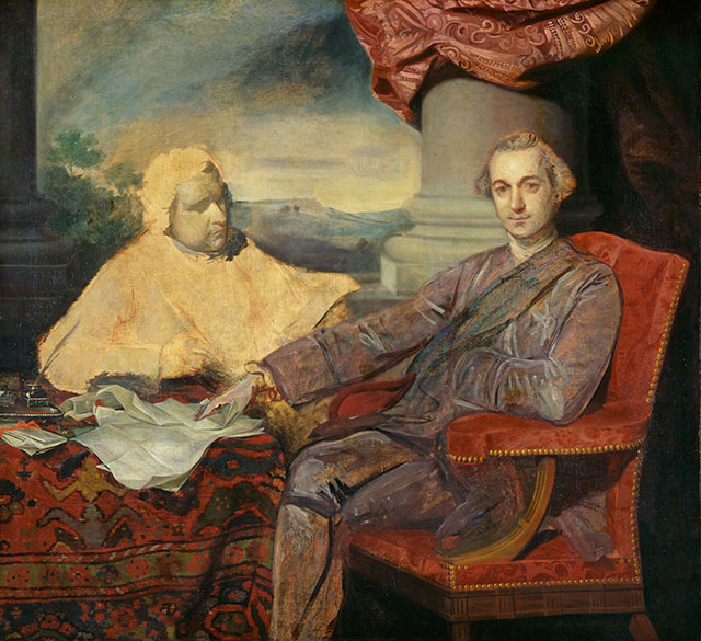 The founder of modern conservatism, Edmund Burke (above, left, in Joshua Reynolds's unfinished rendering of him with his patron, the Marquess of Rockingham) was the first to confront the challenge of conserving modern freedom. (FITZWILLIAM MUSEUM, CAMBRIDGE / ART RESOURCE, NY)
