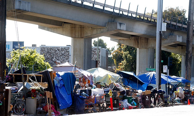 San Francisco's encampments generate up to six tons of trash daily. (ARIC CRABB/MEDIANEWS GROUP/BAY AREA NEWS/GETTY IMAGES)