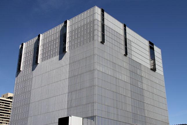 Borg Cube: the Orrin G. Hatch U.S. Courthouse (2015) in Salt Lake City, designed by Thomas Phifer and Partners. (Photo: BrendanHunter/iStock)