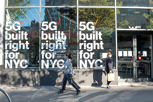 New York telecom companies have already begun investment in 5G, which can give the city a strategic technological edge. (ALEXI ROSENFELD/GETTY IMAGES)