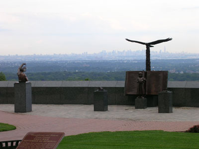 The Eagle Rock memorial in Essex County, New Jersey