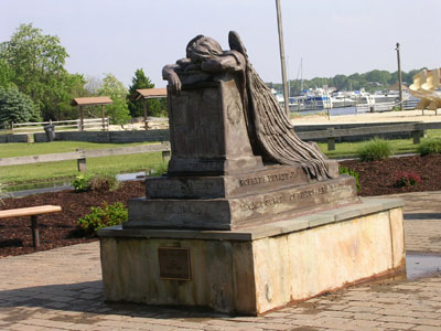 Angel in Anguish, by Brian Hanlon, in Brick, New Jersey