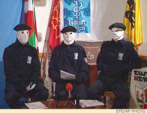 Three ETA spokesmen on a Basque TV channel in 2003
