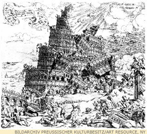 Fall of the Tower of Babel, by Cornelis Anthonisz (1547).