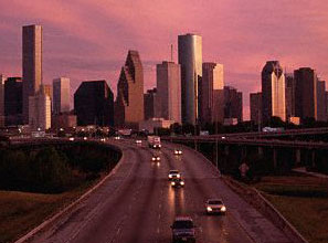 Houstonians zoom home from work in 27 air-conditioned minutes.