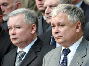 Studies of identical twins, like Polish president Lech Kaczynski, right, and former prime minister Jaroslaw, show that 40 percent of our political views have a genetic component.