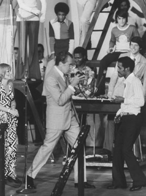 Mr. Nojangles: Richard Nixon grooving with Davis at the Republican National Convention in 1972