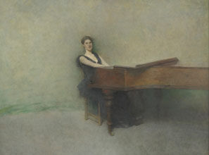 Thomas Wilmer Dewing, 'The Piano'/Smithsonian Institution/Corbis