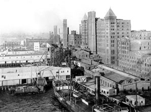 The Brooklyn refinery of the company that became Domino Sugar, launched in the early nineteenth century by visionary businessman William Havemeyer