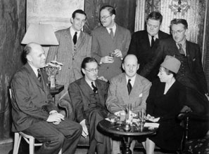The Algonquin Hotel: a famous Gotham hangout for writers, such as Dorothy Parker and James Thurber (far right)