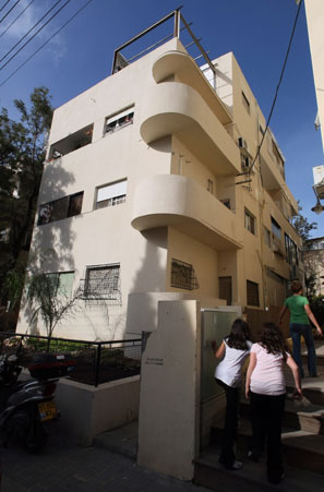 One of Tel Aviv's more than 3,000 Bauhaus buildings, the most of any city in the world