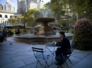 Bryant Park, once home to panhandlers, pushers, and punks, is now an urban oasis.