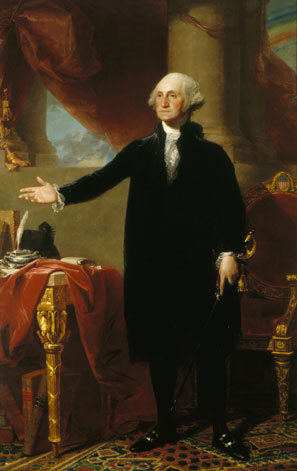 Depicted toward the end of his presidency in Gilbert Stuart's famous portrait, George Washington came to office with a well-formed political and economic worldview.