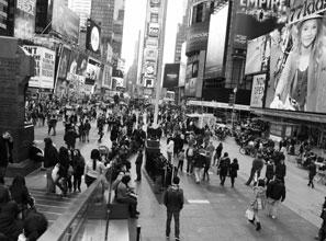 The pedestrian-friendly Times Square has eased traffic and boosted business.